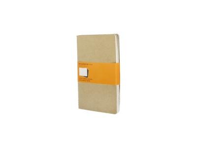 50712117 Записная книжка Moleskine Cahier (в линейку, 3 шт.), Large (13х21см), бежевый
