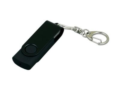 OA2003025377 Флешка промо поворотный механизм, с однотонным металлическим клипом, 16 Гб, черный