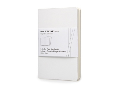 60212006 Записная книжка Moleskine Volant (нелинованная, 2 шт.), Pocket (9х14см), белый