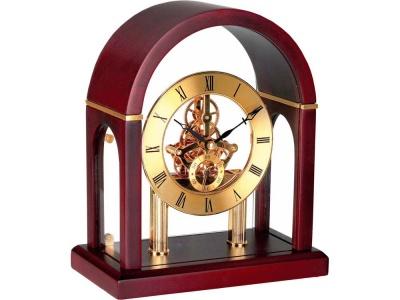 OA37W-BRN6 Часы Триумфальная арка, золотистый/красное дерево