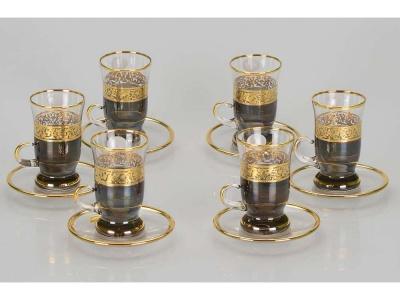 OA1701401319 Чайный набор Важное совещание, черный/золотистый