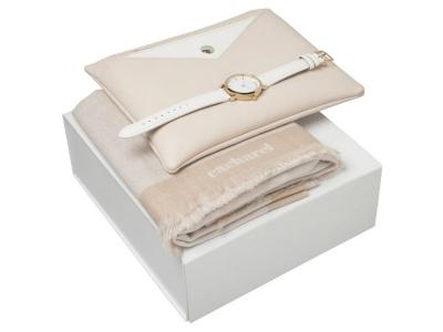 OA200302628 Cacharel. Подарочный набор Bird : шарф, часы наручные, сумочка. Cacharel