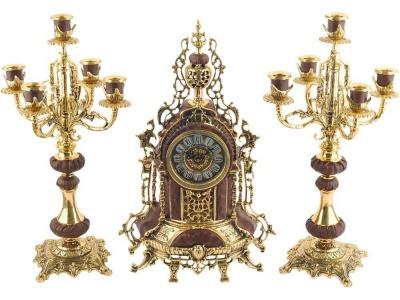 OA20O-GLD9 Композиция: интерьерные часы с подсвечниками Герцог Альба