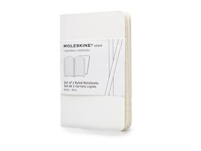 70212106 Записная книжка Moleskine Volant (в линейку, 2 шт.), XSmall (6,5х10,5см), белый