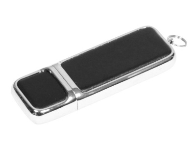OA2003025212 Флешка компактной формы, 16 Гб, черный/серебристый