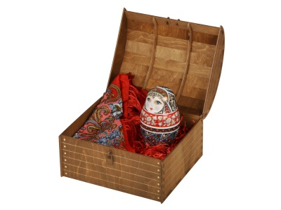 OA2003028229 Подарочный набор Матрешка: штоф 0,5л, платок