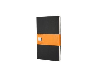 50712107 Записная книжка Moleskine Cahier (в линейку, 3 шт.), Large (13х21см), черный