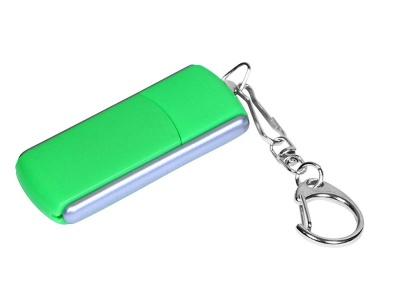 OA2003025119 Флешка промо прямоугольной формы, выдвижной механизм, 64 Гб, зеленый