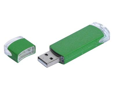 OA2003025158 Флешка промо прямоугольной классической формы, 64 Гб, зеленый