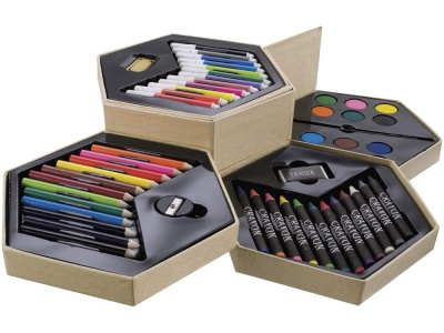 OA82S-BRN54 Набор для рисования: 12 фломастеров, 12 карандашей