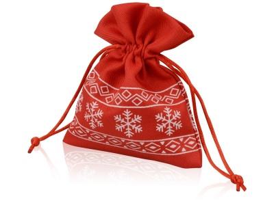 OA1701222983 Мешочек подарочный новогодний, хлопок, малый, красный