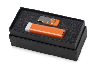OA2003023771 Подарочный набор Flashbank с флешкой и зарядным устройством, оранжевый