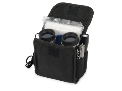 OA31SR-BLK1 Набор путешественника: бинокль 4х30, мультиинструмент, фонарь, компас, дождевик, салфетка