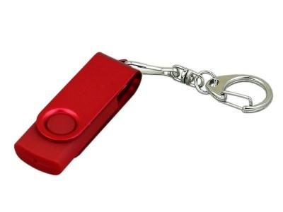 OA2003025392 Флешка промо поворотный механизм, с однотонным металлическим клипом, 64 Гб, красный
