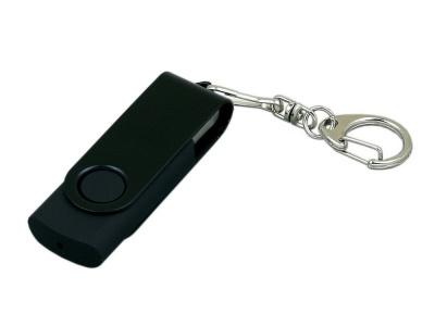 OA2003025382 Флешка промо поворотный механизм, с однотонным металлическим клипом, 32 Гб, черный