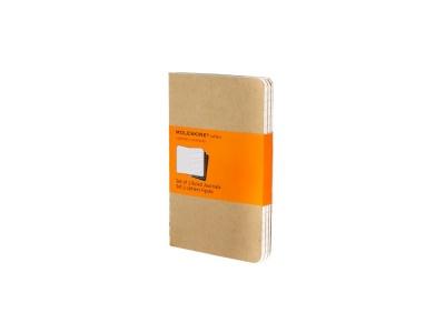 60712117 Записная книжка Moleskine Cahier (в линейку, 3 шт.), Pocket (9х14см), бежевый