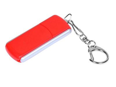OA2003025121 Флешка промо прямоугольной формы, выдвижной механизм, 64 Гб, красный
