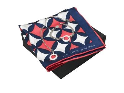 OA200302721 Jean Louis Scherrer. Набор: шелковый платок, браслет, колье