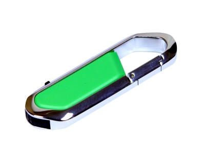 OA2003025452 Флешка в виде карабина, 16 Гб, зеленый/серебристый