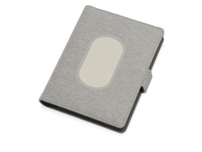OA2003027228 Evolt. Органайзер с беспроводной зарядкой 5000 mAh Powernote, светло-серый