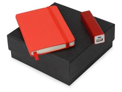 OA2003023778 Подарочный набор To go с блокнотом и зарядным устройством, красный