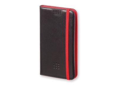 OA170122836 Moleskine. Чехол-книжка универсальный двухцветный, L, черный/красный