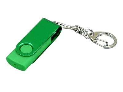 OA2003025384 Флешка промо поворотный механизм, с однотонным металлическим клипом, 32 Гб, зеленый