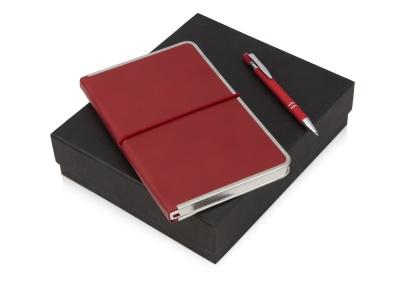 OA2003023814 Подарочный набор Silver Sway с ручкой и блокнотом А5, красный