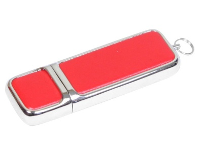 OA2003025224 Флешка компактной формы, 64 Гб, красный/серебристый