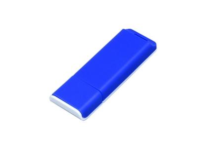 OA2003025049 Флешка прямоугольной формы, оригинальный дизайн, двухцветный корпус, 64 Гб, синий/белый