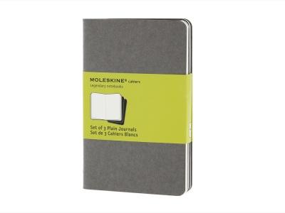 60712010 Записная книжка Moleskine Cahier (нелинованный, 3 шт.), Pocket (9х14см), серый
