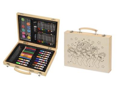 OA2003028794 Набор для рисования из 67 предметов в чемодане с рождественским рисунком
