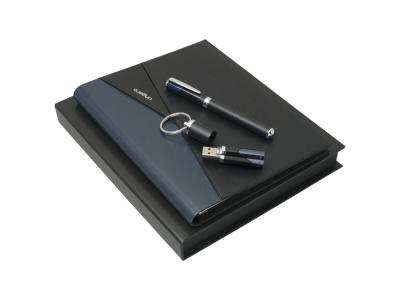 OA200302755 Ungaro. Подарочный набор Lapo: папка А5, флеш-карта 16 Гб, ручка роллер. Ungaro
