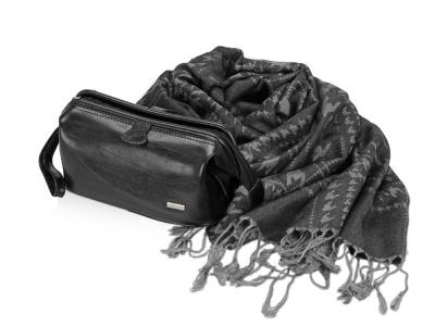 OA2003026750 Diplomat. Подарочный набор: несессер, шарф, черный/серый