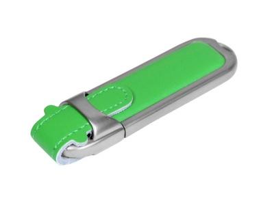 OA2003025207 Флешка с массивным классическим корпусом, 64 Гб, зеленый/серебристый