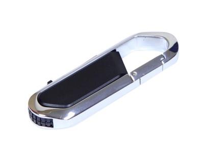 OA2003025448 Флешка в виде карабина, 16 Гб, черный/серебристый