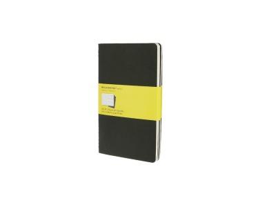 50712207 Записная книжка Moleskine Cahier (в клетку, 3 шт.), Large (13х21см), черный