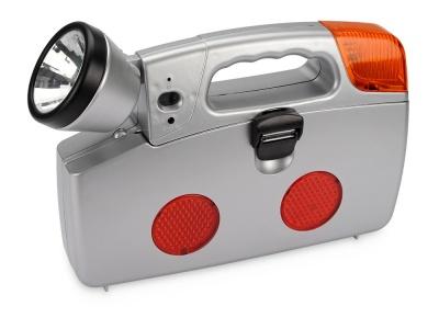 OA55S-SLR1 Набор инструментов автомобилиста с фонарем, 14 предметов, серебристый