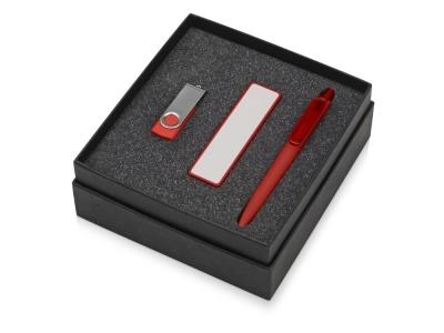 OA2003023870 Подарочный набор Space Pro с флешкой, ручкой и зарядным устройством, красный