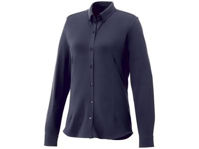 OA2003026462 Elevate. Женская рубашка Bigelow из пике с длинным рукавом, темно-синий