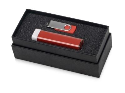 OA2003023770 Подарочный набор Flashbank с флешкой и зарядным устройством, красный