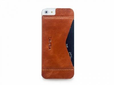 OA1701221627 ZAVTRA. Кошелек-накладка на iPhone 5/5s и SE, коричневый