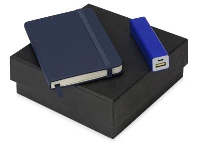 OA2003023779 Подарочный набор To go с блокнотом и зарядным устройством, синий