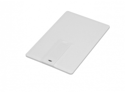 OA2003025101 Флешка в виде пластиковой  карты c удобным откидным механизмом, 32 Гб, белый