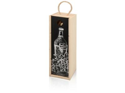 OA1701222957 Пенал на 1 бутылку с грифельной крышкой, натуральный