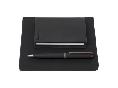 OA2003021996 Hugo Boss. Подарочный набор: блокнот А7, ручка шариковая. Hugo Boss, черный