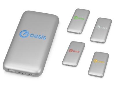 OA1701222648 Xoopar. Портативное зарядное устройство XOOPAR BUBBLE BANG, 5 цветов подсветки, 5000 mAh, серебристый