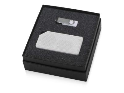 OA2003023792 Подарочный набор Move-it с флешкой и портативной колонкой, белый