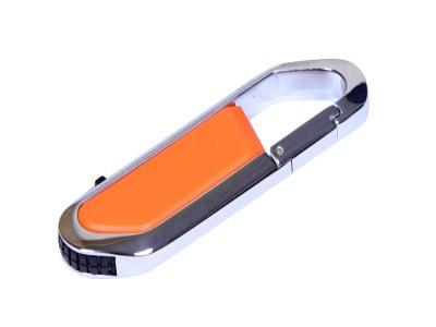 OA2003025462 Флешка в виде карабина, 64 Гб, оранжевый/серебристый