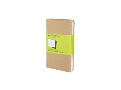 60712017 Записная книжка Moleskine Cahier (нелинованный, 3 шт.), Pocket (9х14см), бежевый